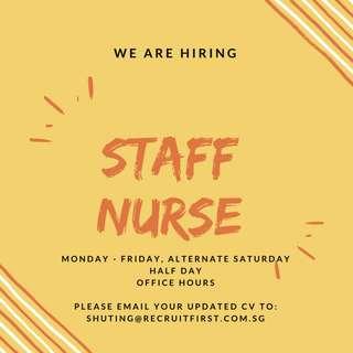 Staff Nurse | Office Hours | Near MRT | Central