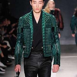 balmain x H&M runway jacket