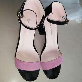 Mori girl粗跟涼鞋