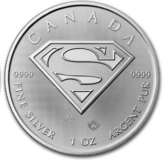 1 oz Canadian Silver Superman Shield Coin (2pcs)