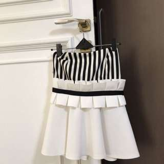 Stripes bustier top