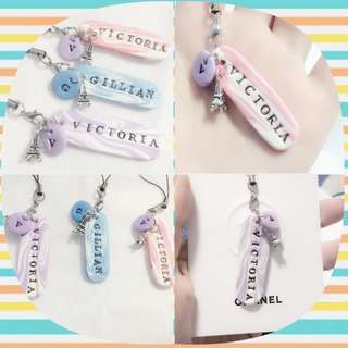 Customized name polymer clay
