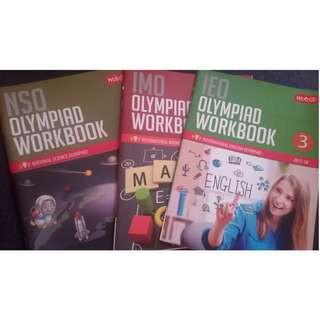 Moving out sale / Clearance OLYMPIAD Workbook for class 3, P3,GIIS,NPS,DAV,HINDI society, Yuva Bharati,English, maths, science  (Not Story, comic books)tutor, tution,  Foreign language