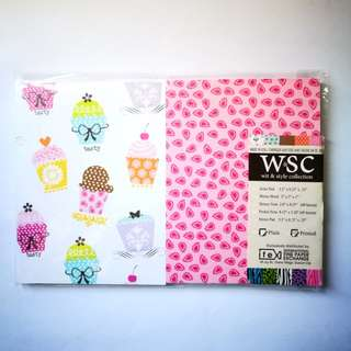 NEW W&SC Cupcakes and Paisley Stationery Memo Pad Bundle Set