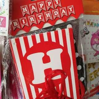 Happy birthday banderitas abnner