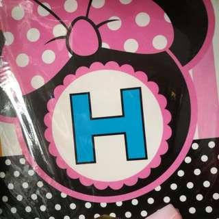 Minnie mouse happg birthday banner photo banner