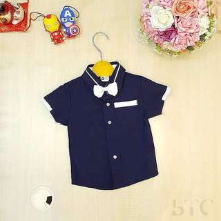 [READY STOCK] Boys Shirt (Free Bow Tie)
