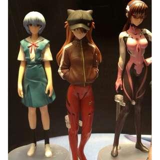 Bandai Evangelion Rebuild of Eva Character Portrait Figures 1 set 3 items Asuka Mari Rei