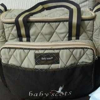 Diapers bag baby scot