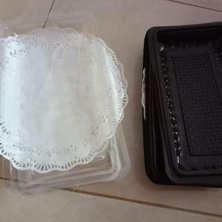 Tempat Kue Plastik-- Brownies