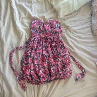 Cute Floral Bubble Dress