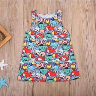 Cute Baby Girl Cartoon Dress