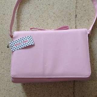 Ribbon Sling-Bag Pink