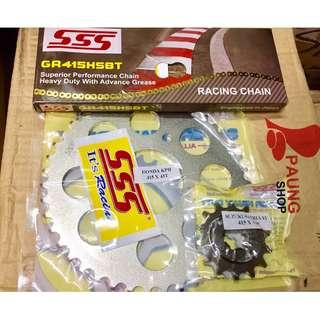 Gear Set SSS 415/130L HSBT Satria FU Baru 41T - 45T