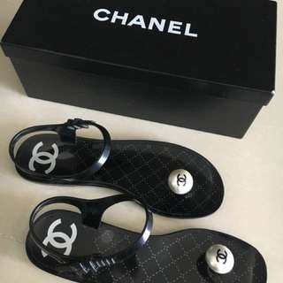 Chanel Authentic Sandals. 90% New. Slight scratch
