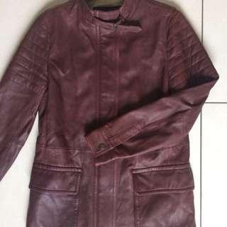 Leather jacket Coach