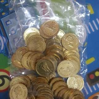 PC免運撿便宜~散裝金幣巧克力60枚大顆 過年應景糖果
