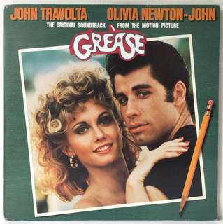 Various ‎– Grease - The Original Soundtrack From The Motion Picture (1978 Germany Original - Vinyl is Mint - 2LP in Gatefold Sleeve)