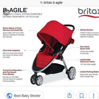 Sale!! Britax B-Agile Travel System (stroller & carrier)