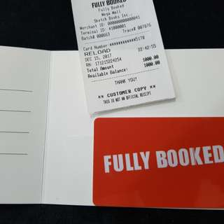 Fully Booked P1000 Gift Card