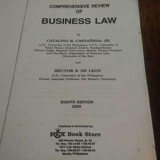 Comprehensive Review Business Law Castaneda De Leon