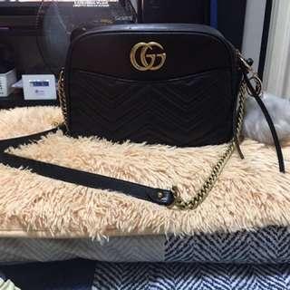 Authentic Gucci Marmont Leather Black