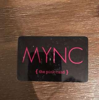 MYNC gift card $140