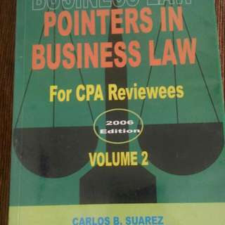 Pointers in Business Law Suarez