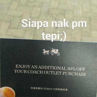 Coach Additional 30% For Today Only