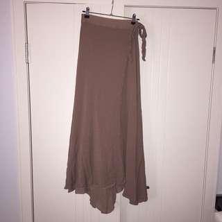 (M/L) Showpo maxi wrap skirt