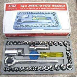 40pcs socket wrench set
