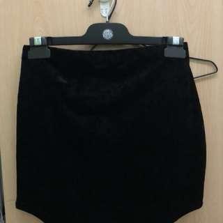 Missguided velvet/suede skirt