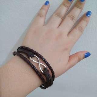 Chocolate brown Infinity bracelet SALE