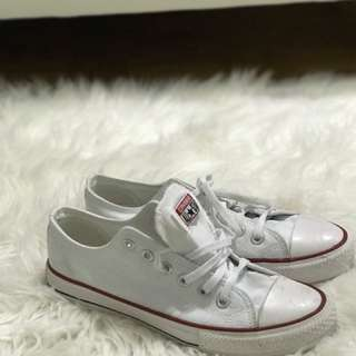 White Converse Shoes (Only worn few times)