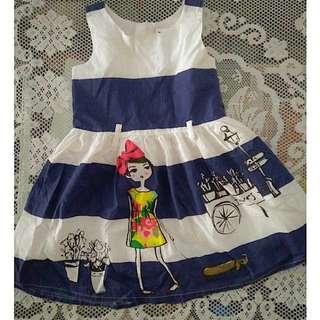 Navy blue/white dress