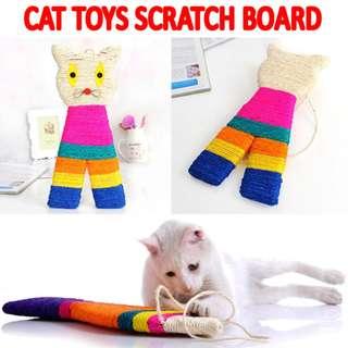 TPE036 Toy Cat Scratch Board Cat Shape Brand New