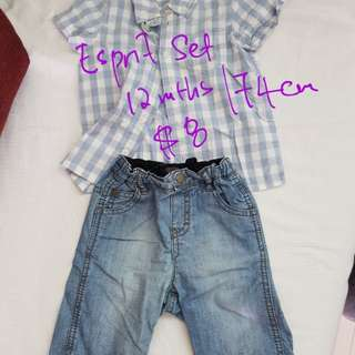Assorted preloved baby clothing