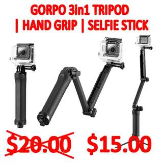 TGP008 3-Way Adjustable Hand Grip | Selfie Stick | Tripod Brand New