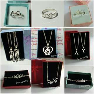 Personalized 92.5 Italy silver name jewelries