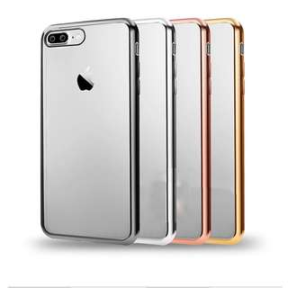 Softcase Ultrathin List Chrome ( Shining Chrome ) Iphone 7