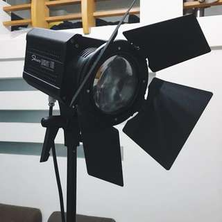 專業 Skier Sunray 100W LED燈+Keystone 無影罩+ Keystone 四節快扣燈架 攝影燈具組