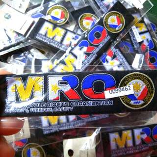 MRO Computerized Embroidered Uniform Patches,Not Reproduced,with Serial Numbers