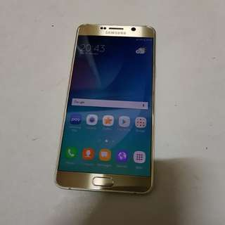 Samsung Galaxy Note 5 Single SIM Gold Fullset