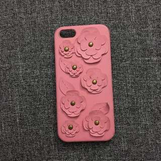 Pink (w/flowers) iphone 5/5s phone case