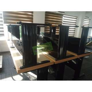 OFFICE TABLES (LIGHT GRAY TOP, BLACK LEGS)--KHOMI