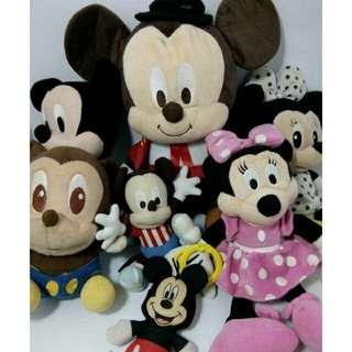 PRELOVED Boneka Minni&Mickey