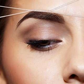 Eyebrow + Upper Lip Threading 10 Sessions!!