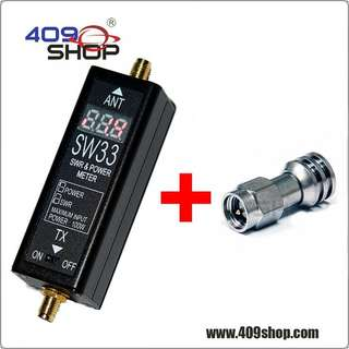 SURECOM SW33 VHF/UHF 100W POWER & S.W.R. METER and 5W DUMMY LOAD
