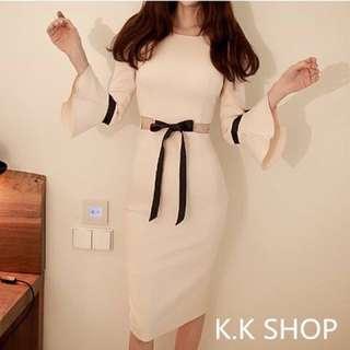 84 喇叭袖連衣裙(1色)