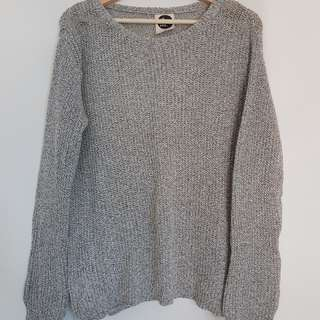 All about eve grey knit jumper